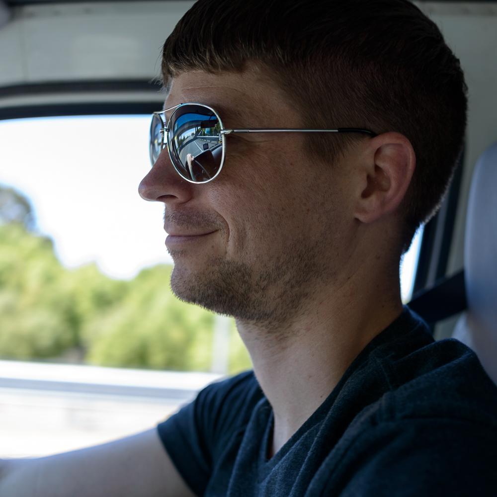 Anson driving