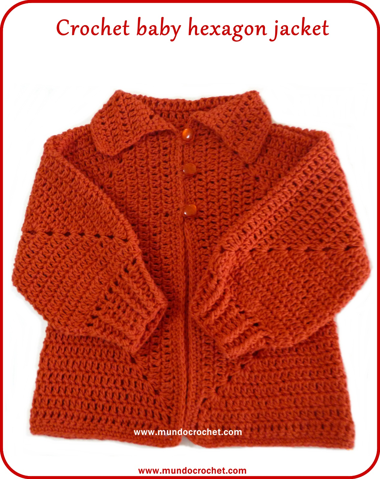 a371f7e55 In this new post I want to bring you another version of the baby hexagon  jacket. This version has no holes