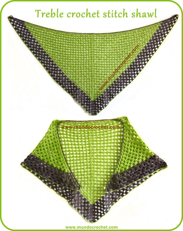 Treble crochet stitch shawl