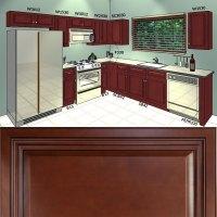 All Solid Wood KITCHEN CABINETS Cherryville 10x10 RTA | eBay