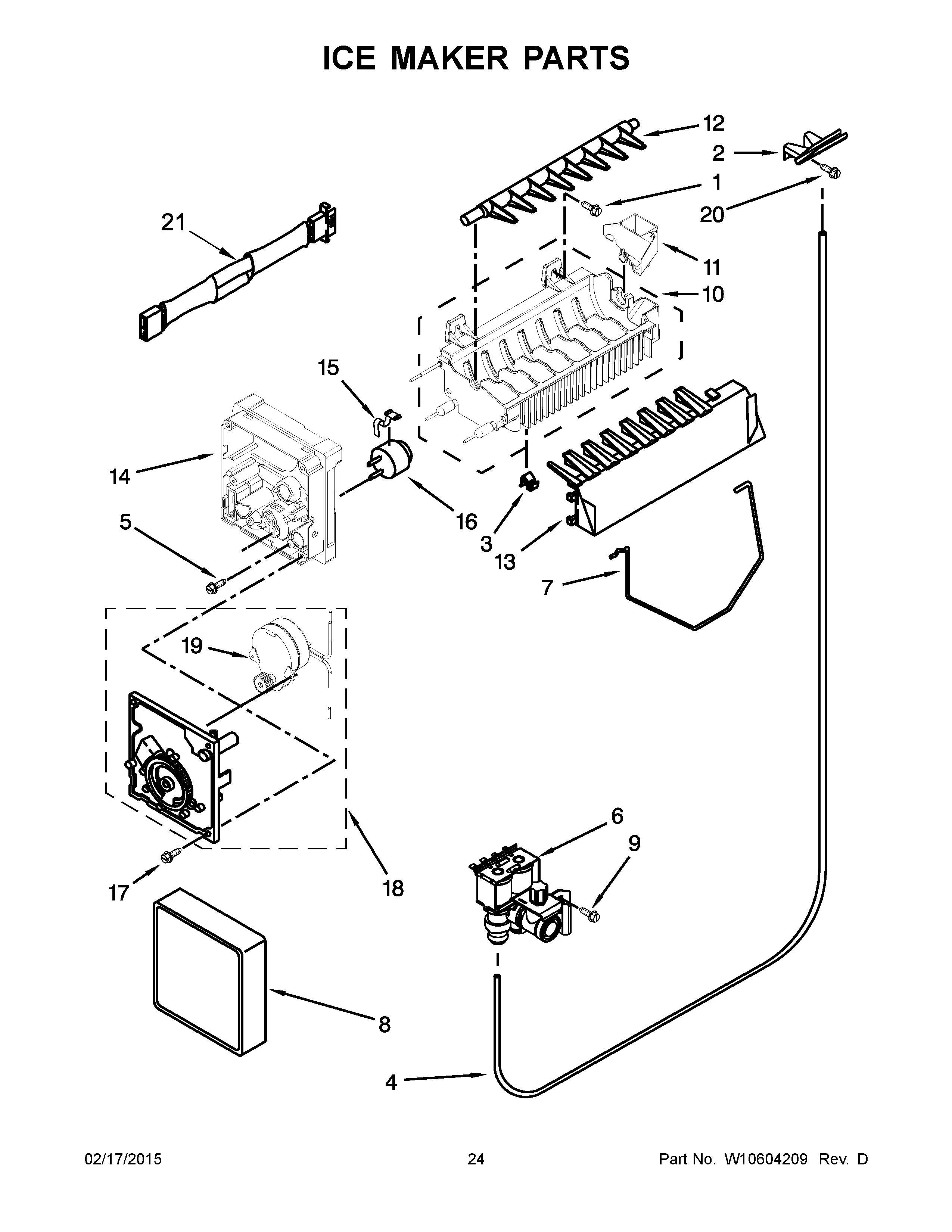 Whirlpool Refrigerator Ice Maker Wiring Diagram