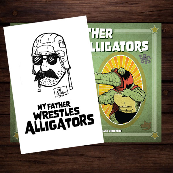 Sketch Card Bundle featuring Major Mayhem and My Father Wrestles Alligators