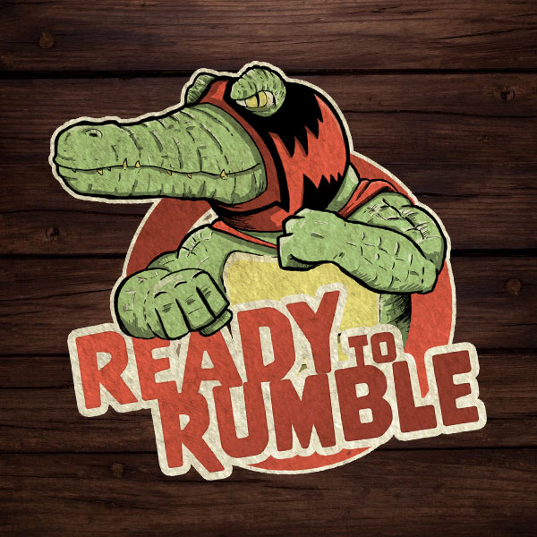 My Father Wrestles Alligators Ready to Rumble Sticker
