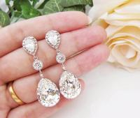 Wedding Bridal Jewelry Bridal Earrings Bridesmaid Earrings ...