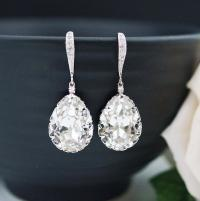Wedding Jewelry Bridal Earrings Bridesmaid Earrings Dangle ...