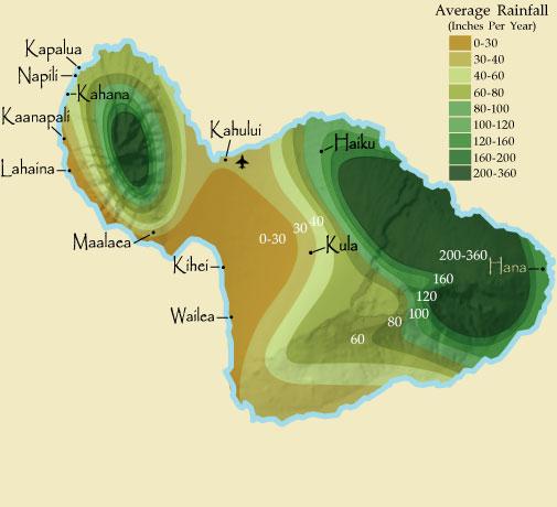 Maui rainfall
