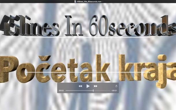 45lines in 60seconds (1) : Početak kraja udbaške hobotnice