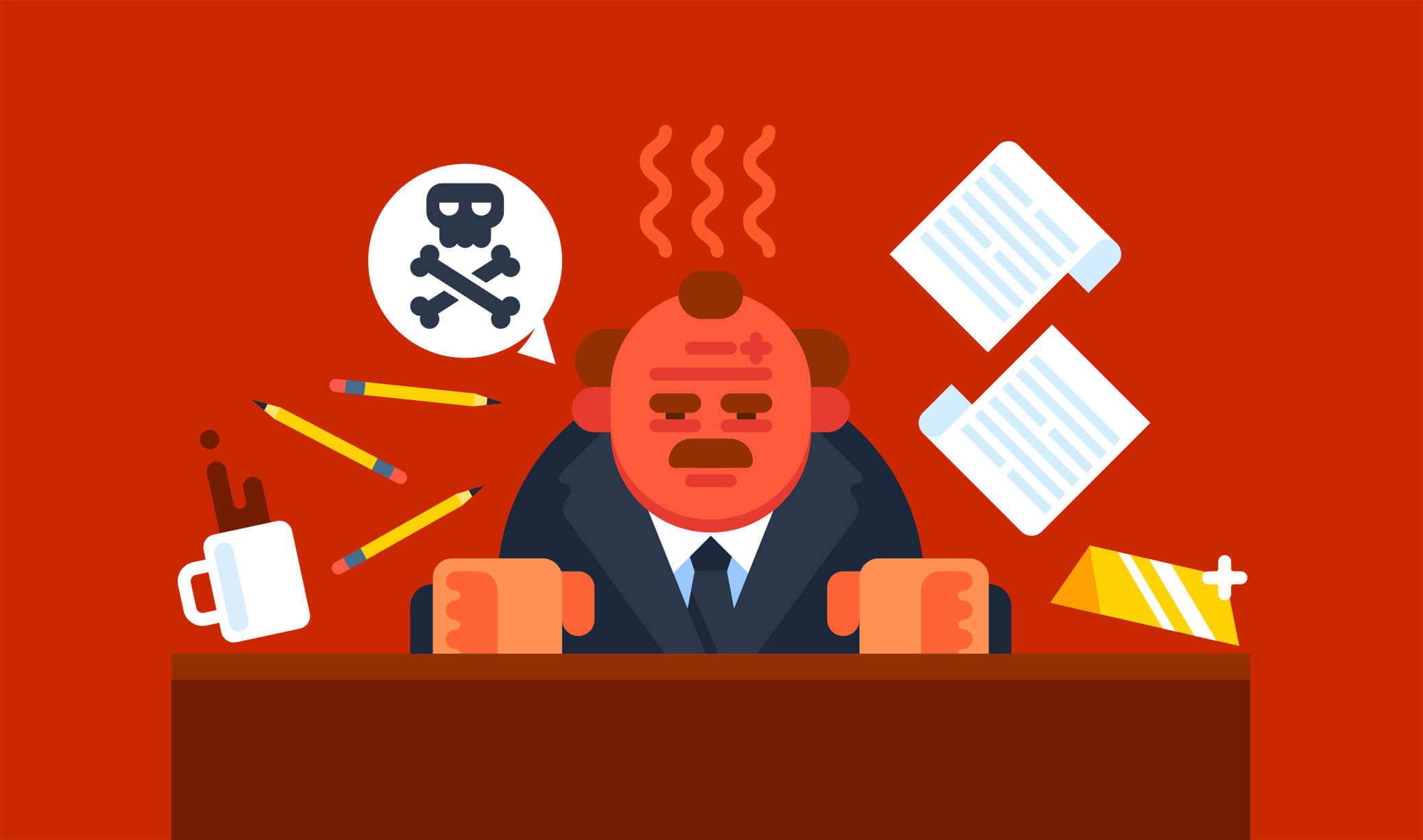 Frustrated boss
