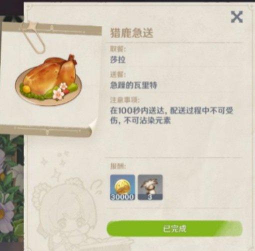 Пример тарелки для мероприятий Genshin Impact