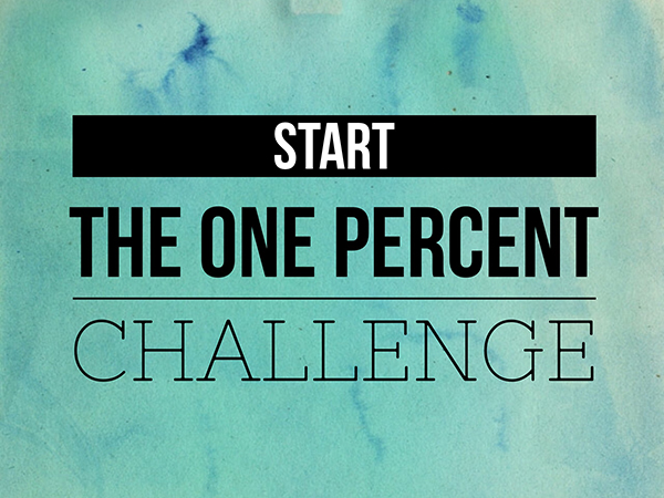 Pledge the One Percent Challenge