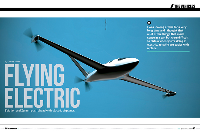 charged evs flying electric