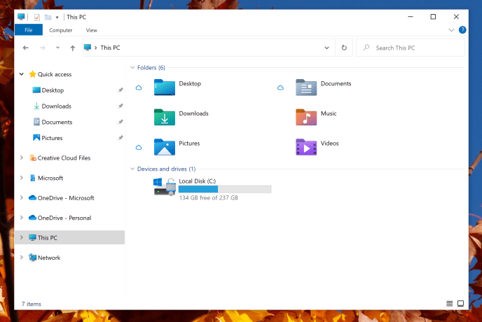 New system icons in File Explorer.