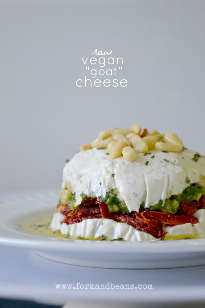 "Raw Vegan ""Goat"" Cheese Dip - Fork & Beans"