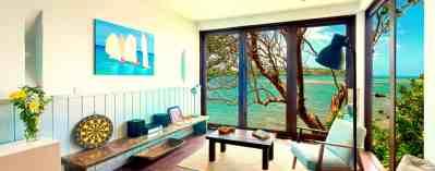 Oceanfront 2BR Living Area