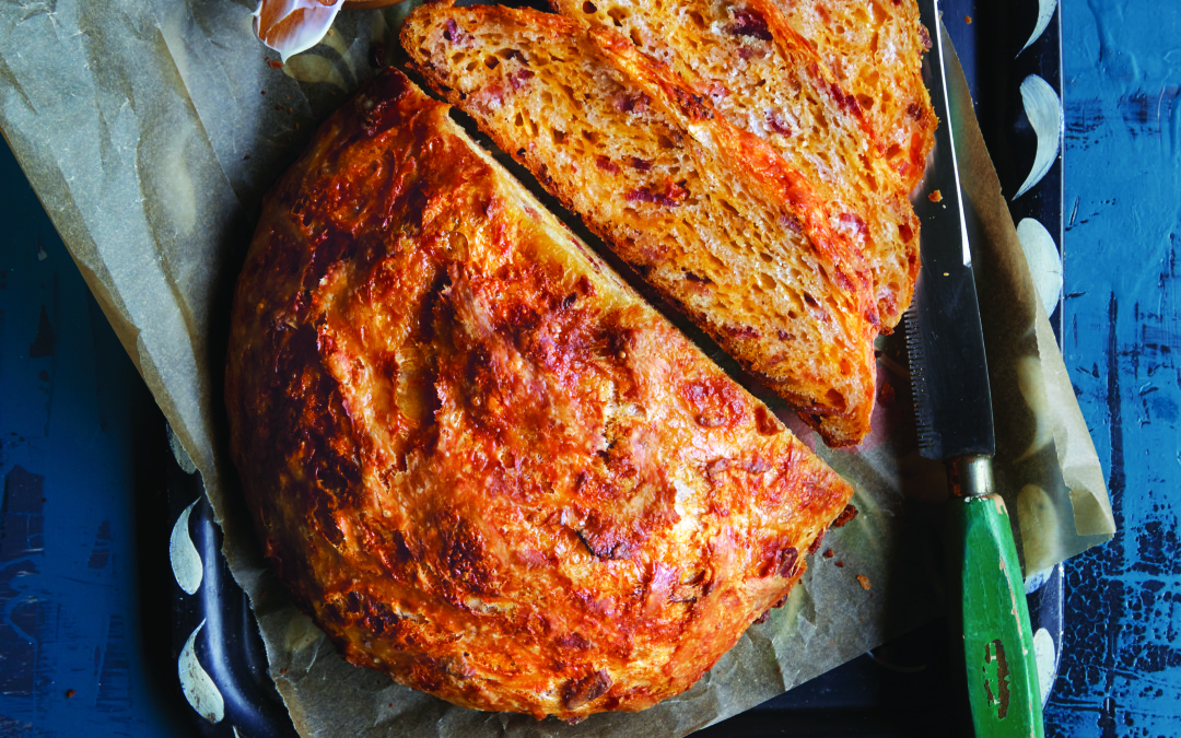 Crusty Bacon And Cheese Bread Recipe From Lodge Cast Iron