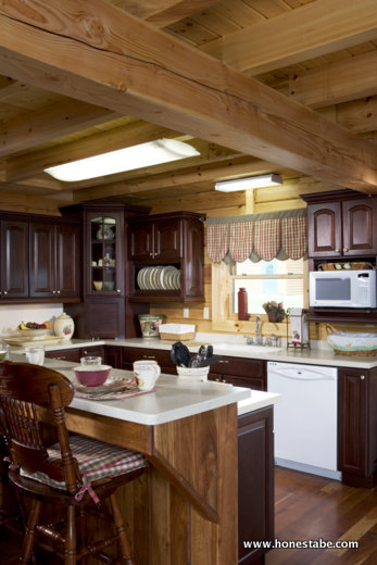kitchen island with seating for 2 stores denver honest abe log home gallery