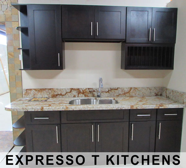 kitchen cupboard jamaica island with seating for 2 bathroom cabinets and vanities in exotic stones expresso oak