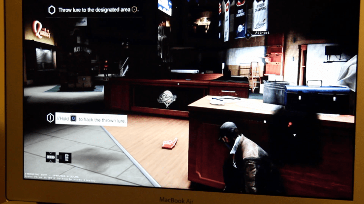 Steam In-Home Streaming on a Mac: Watch_Dogs on a MacBook Air