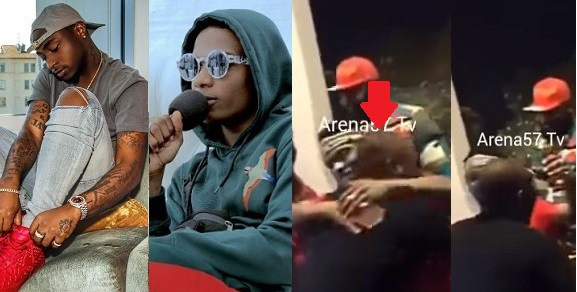 VIDEO: Wizkid Hug Davido as they meet at One Africa Music Fest Dubai