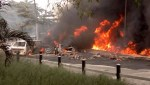 Photos – FESTAC Bridge Fire Updates