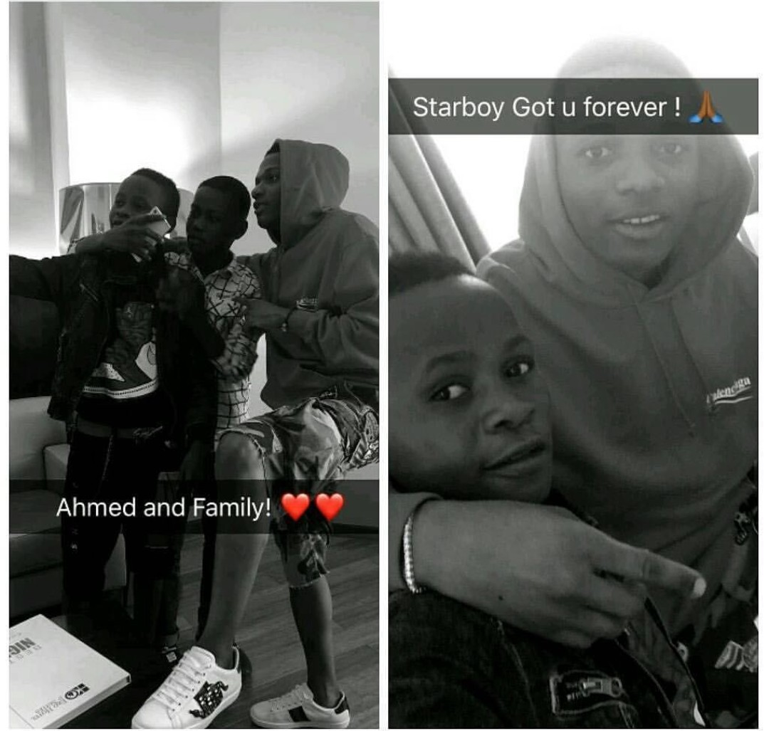 Wizkid Hangs Out With Ahmed, Boy He Signed At His Concert [Photos]