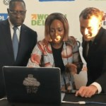 Video: DJ Cuppy Teaches French President, Emmanuel Macron and Senegalese President, Macky Sall How To DJ