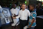 French President, Emmanuel Macron, Was Touched After 11-year-old Nigerian Boy Drew Him in 2 hours When He Visited African Shrine [Video]