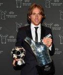 Real Madrid Midfielder Luka Modric Beats Cristiano Ronaldo And Mohamed Salah To Win UEFA Men's Player of The Year Award