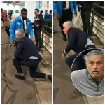Video: Man United Coach Jose Mourinho Suffers An Embarrassing Fall As He Lands On His Face Outside Wembley Stadium