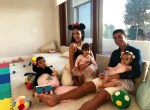 Adorable New Photo of Cristiano Ronaldo Relaxing With His Girlfriend And Children