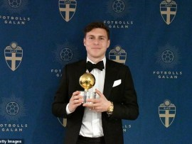 Man.U defender Victor Lindelof wins Swedish player of the year after Zlatan Ibrahimovic?s 10-years of dominance (Photos)