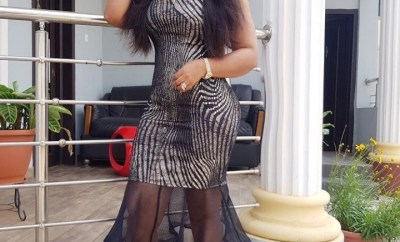 Mercy Aigbe suffers Photoshop fail as her hip makes pillar bend