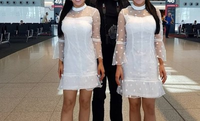 Meet the identical twin sisters who share the same boyfriend and just had a reversed operation after they spent $250k on cosmetic surgery (Photos)