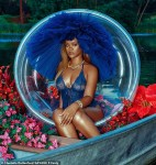 Rihanna Flashes Her Curves As She Poses in A Sexy Sheer Bodysuit [Photos]