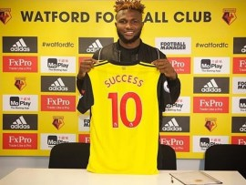Super Eagles striker Isaac Success signs new long-term contract with Watford until 2023