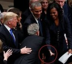 Adorable Moment George W. Bush Gave Michelle Obama Candy Just Before His Father's Funeral