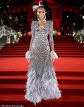 Model Winnie Harlow in Stunning Beautiful Feathered Gown As She Attends The British Fashion Awards [Photos]