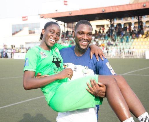 Caption this new photo of Asisat Oshoala and Tobi Bakre