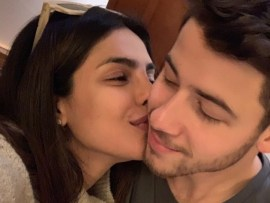 Priyanka Chopra reacts as her husband Nick Jonas is named GQ