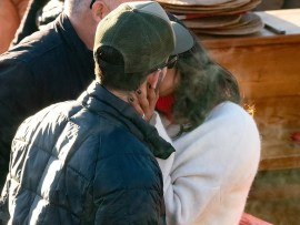 Priyanka Chopra plants a sweet kiss on her husband Nick Jonas as they enjoy lunch date with family and friends (Photos)