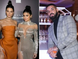 Kendall and Kylie Jenner spotted at Drake