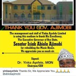 Yinka Ayefele Thanks Governor Ajimobi For Rebuilding His Music House That Was Demolished in August 2018