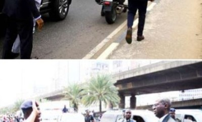 Photos: Like Fashola, Governor?Ambode arrests?soldier driving against traffic in Lagos
