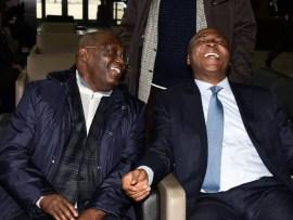 Caption this photo of Atiku Abubakar and Bukola Saraki in the US