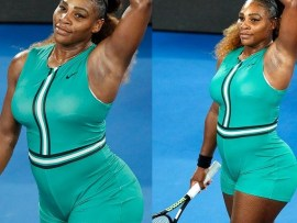See the figure-hugging bodysuit Serena Williams wore at the Australian Open clash that is causing a stir online ( Photos)