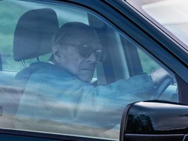 Prince Philip drives himself again just two days after he suffered a car crash in Sandringham