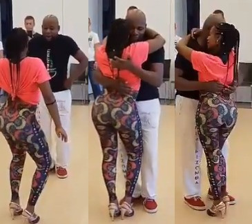 Video: See what a Nigerian woman did after spotting her husband