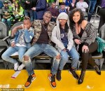 Kevin Hart Enjoys Quality Time With His Family As They Sit Courtside At Lakers Game [Photos]