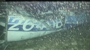 Wreckage from the Piper Malibu