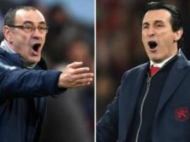 Chelsea manager Maurizio Sarri (left) and Arsenal counterpart Unai Emery